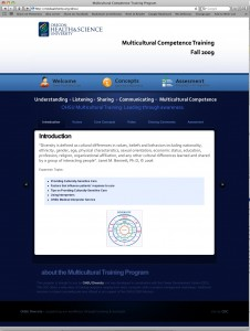 OHSU Content Management System Frontpage